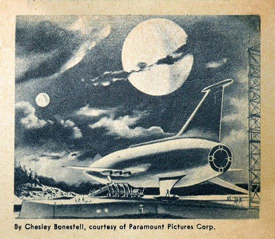 Concept art for Space Ark by Chesley Bonestell
