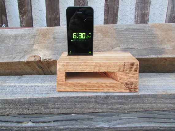 Passive Amplifier for iPhone  Reclaimed Red by WoodSignsandMore, $25.00