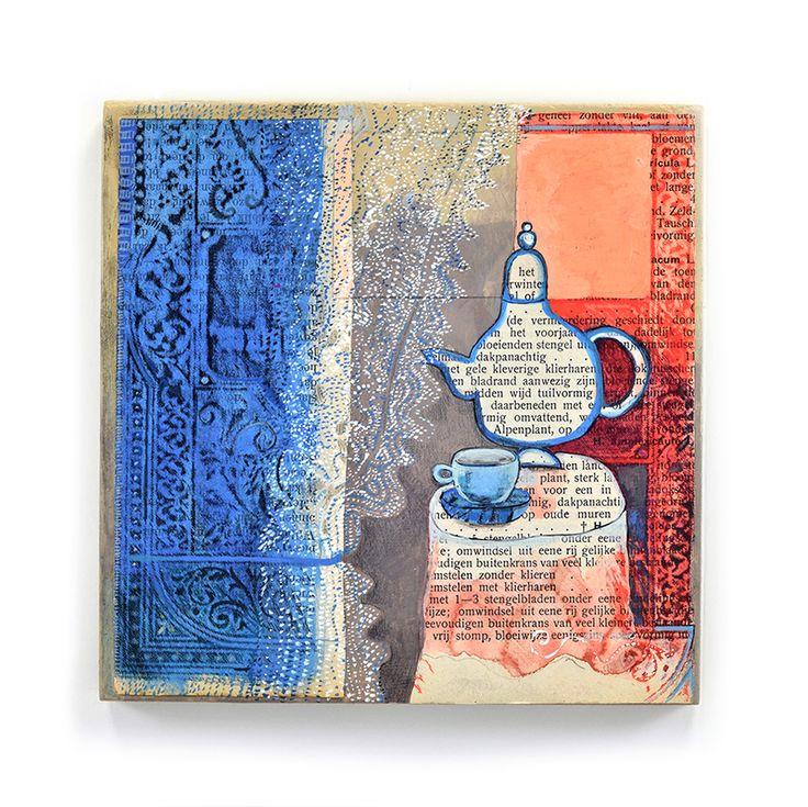 Still life. Tea. Gouache, pencil, acrylic.