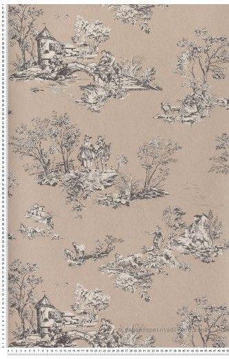 Toile de Jouy Chantilly - papier peint Casadéco