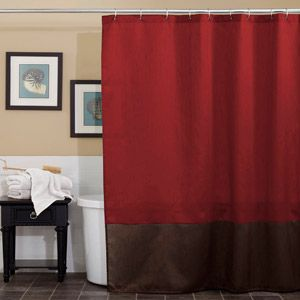 Prima Red Shower Curtain