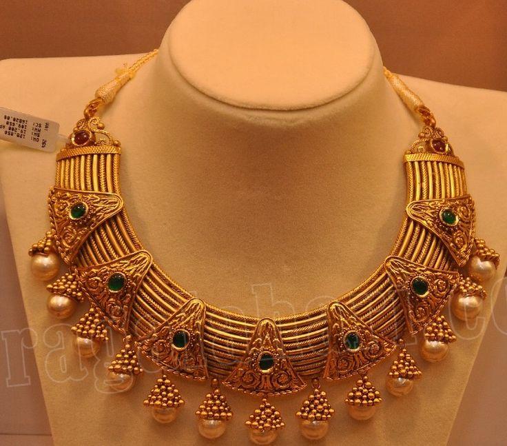 Antique Choker by Malabar Gold and Diamonds ~ Latest Jewellery Designs