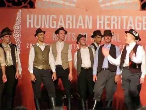 Hungarian folk dancing