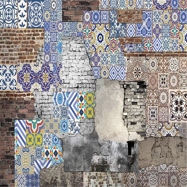 16.50$  Watch now - http://ali8yl.shopchina.info/1/go.php?t=32753805425 - beibehang modern wallpaper-3d background large painting Bohemian pattern brick murales de pared hotel badroom wall mural for  16.50$ #aliexpresschina