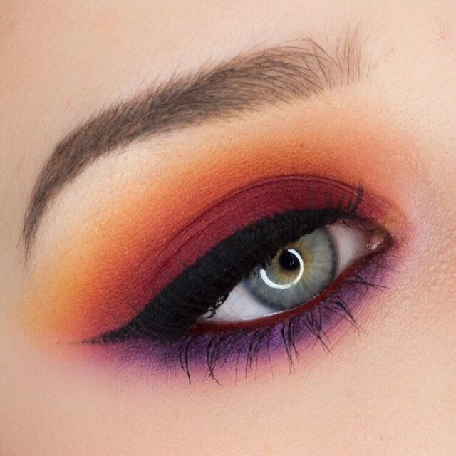 red and orange sunset smokey eyeshadow looks are it summervibes beauty musely tip beauty. Black Bedroom Furniture Sets. Home Design Ideas