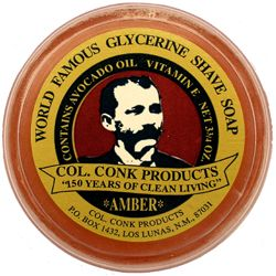 Col. Conk  Glycerine Shave Soap Amber, ca. 120 Gramm