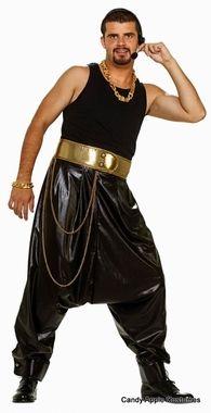 80's Black/Gold Parachute Pants - Candy Apple Costumes - Men's 80s ...