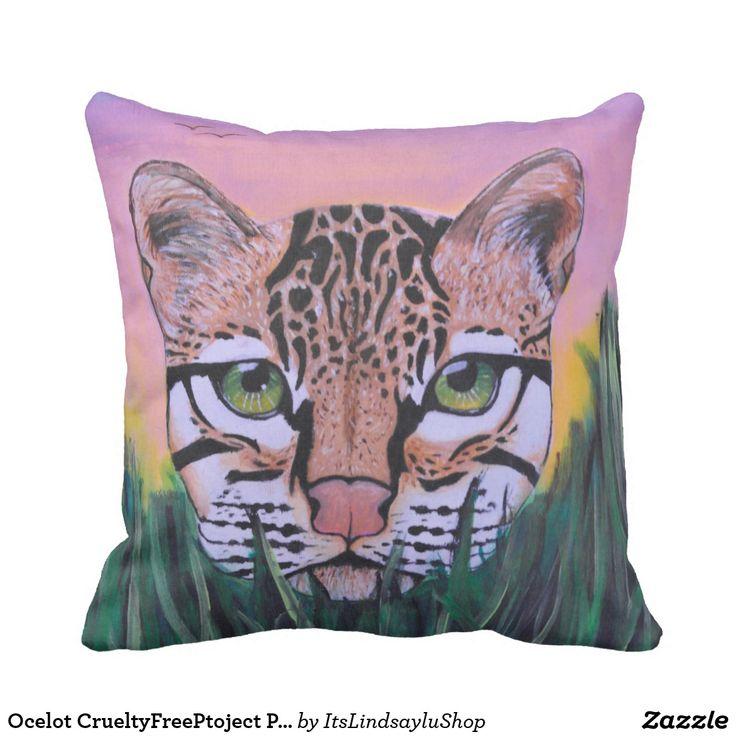 Ocelot CrueltyFreePtoject Pillow