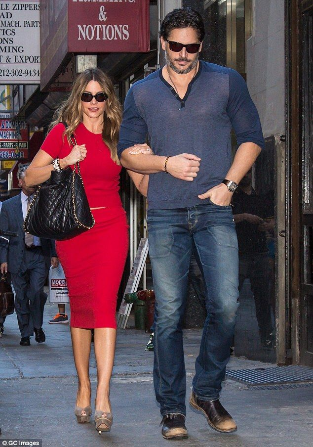 Almost ready: Sofia Vergara and Joe Manganiello strolled hand-in-hand in New York City on Wednesday as the actress revealed that their wedding will happen soon