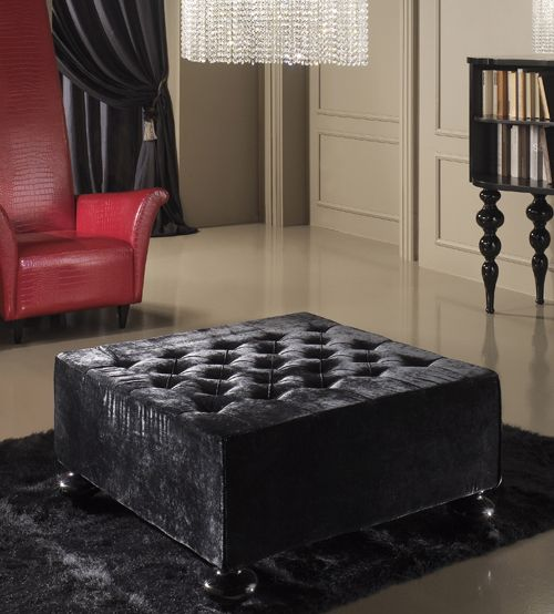 Black velvet foot stool & 24 best Foot stools images on Pinterest   Foot stools Ottomans ... islam-shia.org