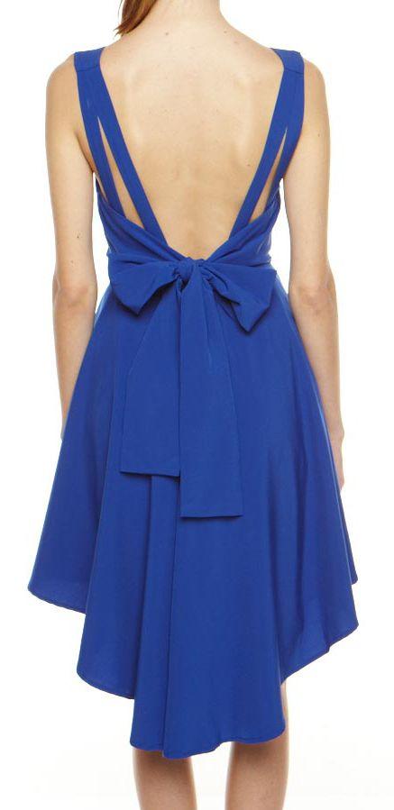 Cobalt bow back dress