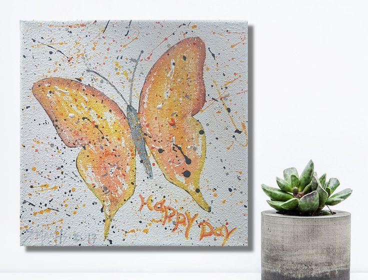 Luxury Acrylbild Wanddeko Schmetterling
