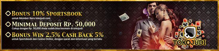 TokoJudi.com adalah Agen Bola Judi Casino, Agen Judi Online Terbesar dan Agen Casino Online Terpercaya yang hadir dengan pelayanan terbaik dan permainan Judi Online Terlengkap di Indonesia dan Asia saat ini. Menerima pembuatan akun permainan Judi Casino Online, Bola Tangkas, Poker dan Togel Online secara Gratis seperti : BOLA SBOBET, IBCBET, USOBET, 368BET, SBOBET CASINO, 1SCASINO, ORIENTAL CASINO, ASIA855, ION CASINO, BOLA TANGKAS88, BONANZA88, ASIAPOKER77, ISIN4D serta KLIK4D dan MNC4D.