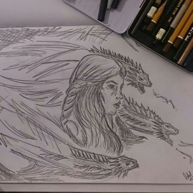 Game of Thrones | Mother of Dragons | Khaleesi | fanart | drawing | art | hobby