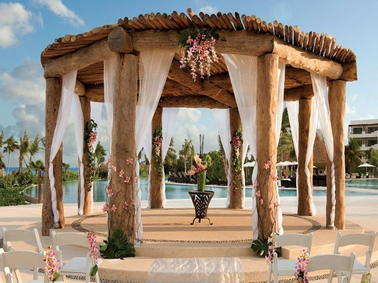 Secrets Maroma Beach Riviera Cancun Rustic Wedding Arch