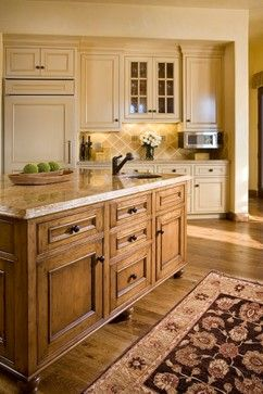 Mountain Ranch at The Santa Lucia Preserve, Carmel, California mediterranean kitchen. This color could work for cabinets.