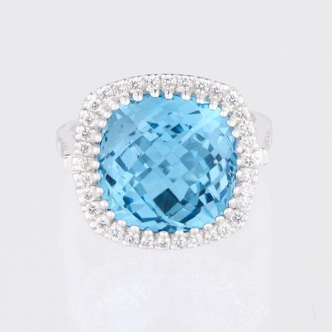 Blue Topaz- Celebrations Ring