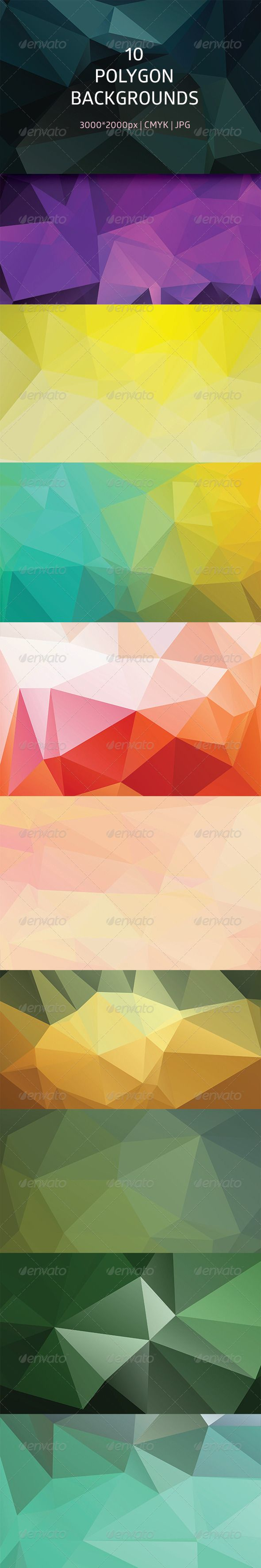 Polygon Abstract Backgrounds - Abstract Backgrounds
