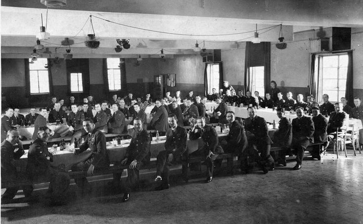 Wickenby Airmen's mess Christmas 1944.