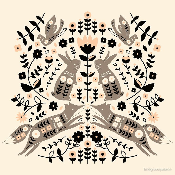 Woodland Folklore by limegreenpalace | she's got a TON of adorable patterns on various products