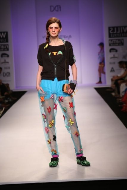 Cool and Crazy pants by Niharika pandey  #fdci #wifw SS14 #colourful #loveit #crazy #cool #weheartit