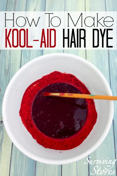 If you've ever wondered how to dye hair with kool-aid then here are the instructions! It's so easy!