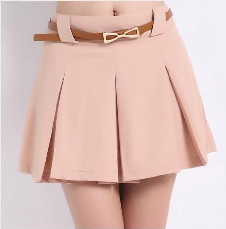 Saia Limited 2014 Spring And Summer Candy Color Loose Plus Size Chiffon High Waist Shorts Skorts Women's All-match Short Skirt € 5,16