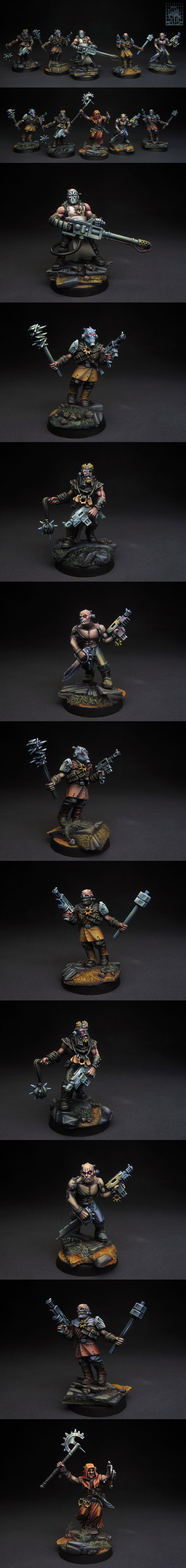 CHAOS CULTISTS OF SECT ANARKUS I have whole Dark Vengeance box to paint and this is first part.  I accept commissions, PM me or email to we7@73.ru You can also find me on facebook https://www.facebook.com/chasnyk.sergey  Best, Sergey