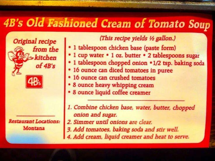 4Bs tomato soup