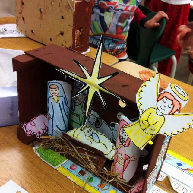 Christmas Nativity Craft I Did With My Grade 2 Students