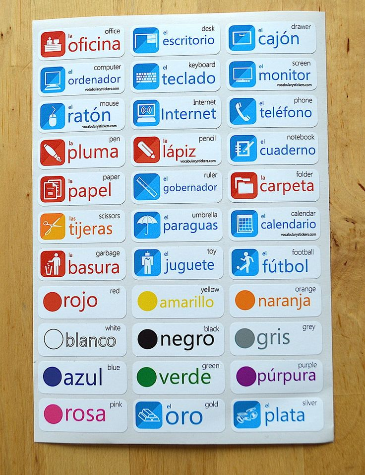 Vocabulary Stickers - Kickstart your language learning – VocabularyStickers™