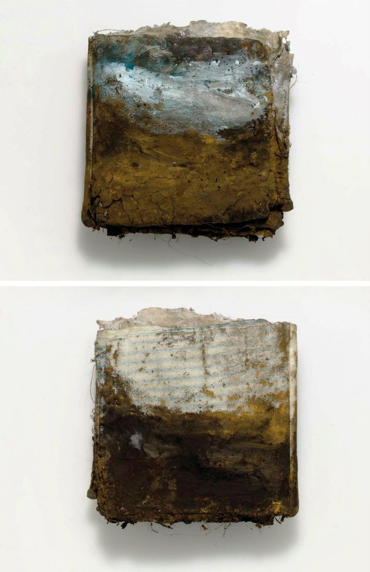 Landscape Book, No. 2 by Kimberly Kersey Asbury (hand-stitched artist book, inspired by watercolor sketchbooks of William Turner)
