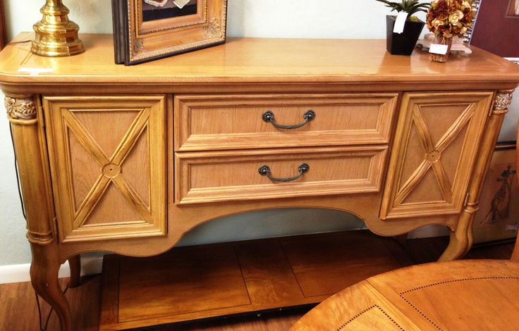 Stanley wood buffet - highboy style ($345)