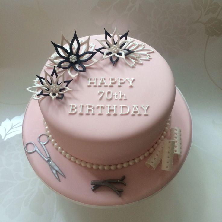 Birthday Cake For A Retired Hairdresser