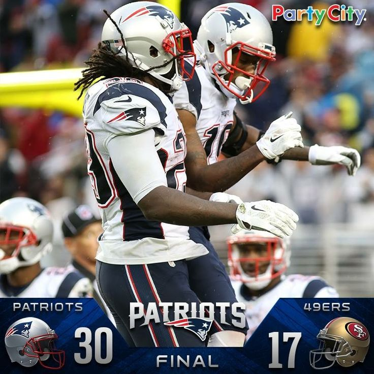 NE vs 49ers. PATS WIN!!!! 30-17!!! They did their job!!