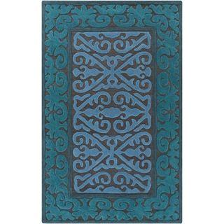 Hand-Woven Shildon Damask Wool Rug (8' x 10') - Free Shipping Today - Overstock.com - 17546902 - Mobile