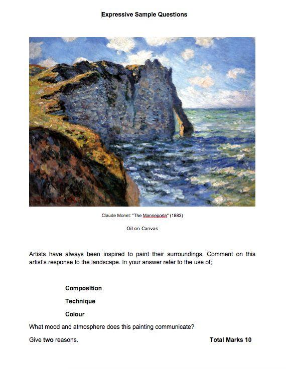 visual art exam papers
