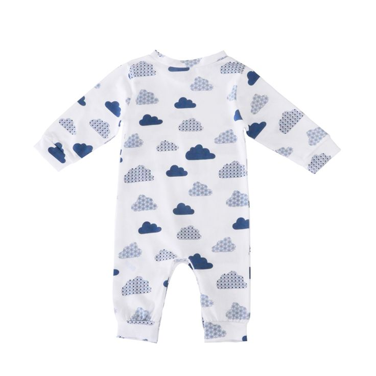 Victory! Check out my new Cute Cloud Pattern Pullover Long-sleeve White Jumpsuit for Baby Unisex, snagged at a crazy discounted price with the PatPat app.