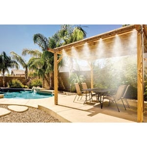 Misty Mate Cool Patio Deluxe Outdoor Misting Kit Brass & Stainless Steel Misting Nozzles $32.99