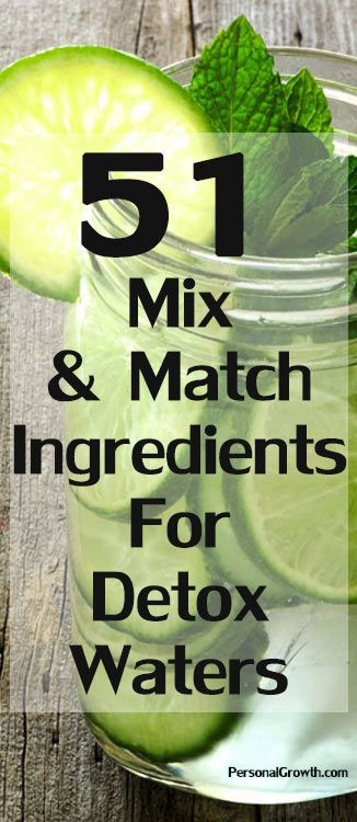 Sometimes trying to choose from the great number of detox water recipes on the internet can be hard. You might not have all the ingredients to make a specific detox drink. This is why we have prepared for you this list of all the ingredients you can mix and match to make your detox water.