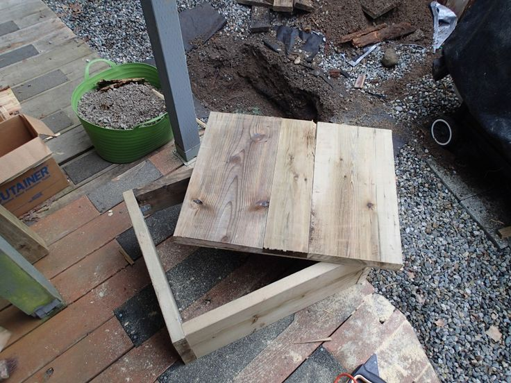 diy wooden septic tank riser / cover
