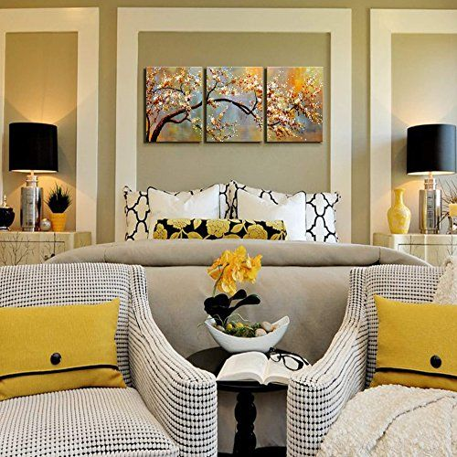 "Canvas Wall Art Pictures Decor Ready to Hang Floral Picture Home Decorations for Living Room ""Exquisite Yellow plum"" 3 piece Artwork for walls Framed #Canvas #Wall #Pictures #Decor #Ready #Hang #Floral #Picture #Home #Decorations #Living #Room #""Exquisite #Yellow #plum"" #piece #Artwork #walls #Framed"