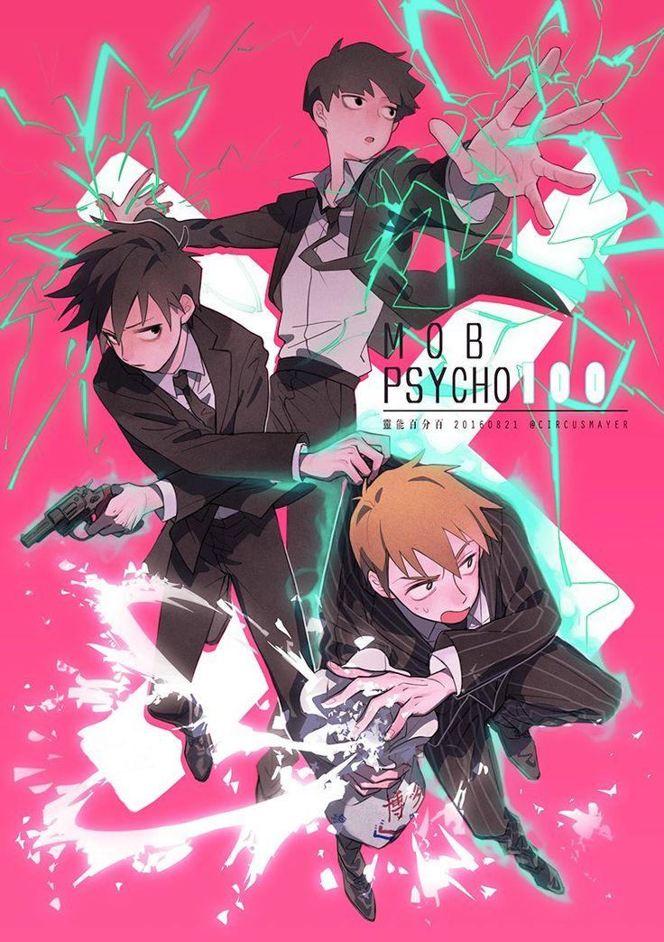 Mob Psycho 100   Kageyama Shigeo, Ritsu, and Reigen Arataka
