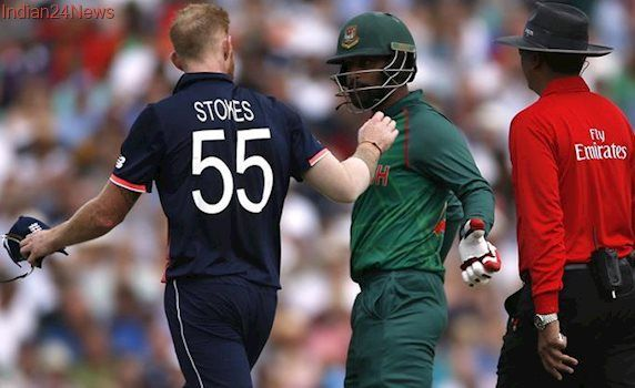 ICC Champions Trophy 2017: Ben Stokes, Tamim Iqbal involved in ugly spat during England-Bangladesh match, watch video