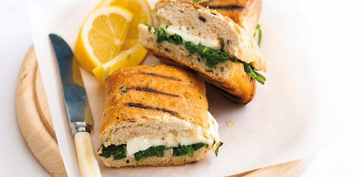 Špenátové sendviče se sýrem