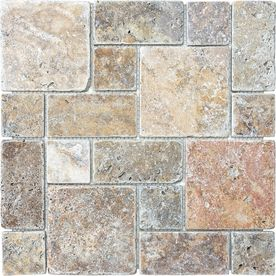 12 In X 12 In Multicolor Natural Stone Wall Tile Backslash