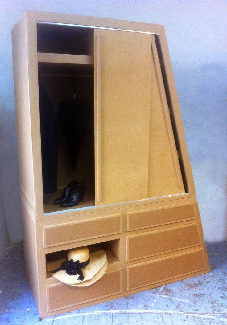 25 best ideas about cardboard wardrobe on pinterest. Black Bedroom Furniture Sets. Home Design Ideas