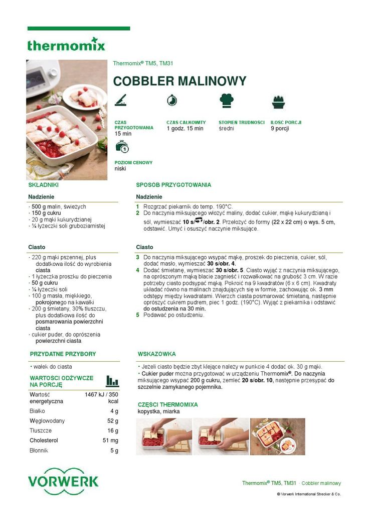 thermomix - Cobbler malinowy