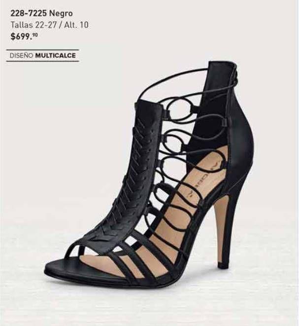 Sandalias Andrea color negro, diseño multicalce moda de verano para mujer. Zapatos Andrea de moda casual.