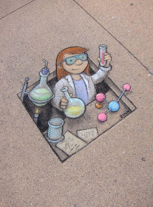 David zinn | ... Chalk Art Of Sluggo By David Zinn | Amazing Street Art Collection